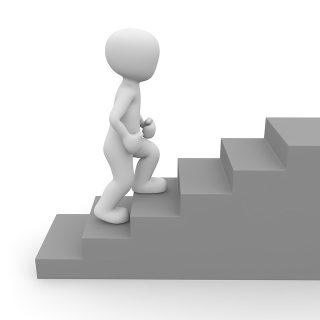 Die Macht der kleinen Schritte - Treppe