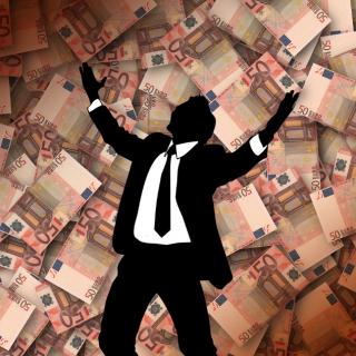 Schnell viel Geld verdienen - Geldregen