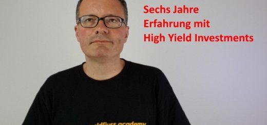 Erfahrung mit High Yield Investments