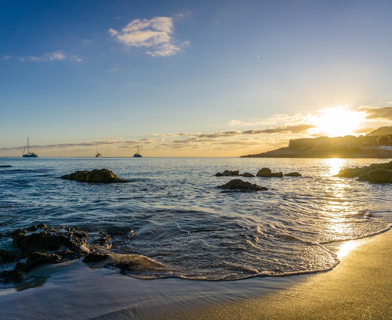finanzielle Unabhängigkeit - Meer, Sonne, Strand