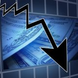 Aktiencrash mit Abwärtstrend